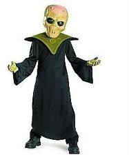 Boys EVIL ALIEN OUTER SPACE Costume Dress Up Size 4 5 6 NWT Mask Robe Green