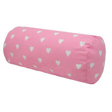Pink Love Heart Valentine Cotton Bolster Cushions / Covers 8x17in (20x43cm)
