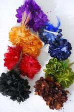 WHOLESALE girls LACE glitter daisy flower HAIR BOW clip FEATHER pearl FALL color