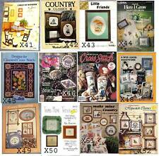X Cross Stitch Patterns, Books & Leaflets CHOICE of Several, FREE US SHIP, D
