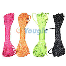 550 Reflective Paracord Parachute Cord Lanyard 8 Strand Core 25ft 50ft 100ft