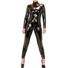 RL12 - PVC Pleather Wetlook Bodysuit Jumpsuit Catsuit Costume Black S M L