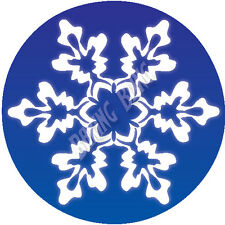 Xmas Snowflake Rice Paper & Icing Cake and Cupcake Toppers Christmas Decoration