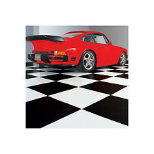 "10 pk G-FLOOR RaceDay Peel & Stick Diamond Tread Tile 24"" x 24"" - .095 Thickness"