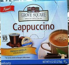 54 GROVE SQUARE SINGLE SERVE INSTANT COFFEE (3 BOXES) KEURIG K CUP ~ PICK FLAVOR