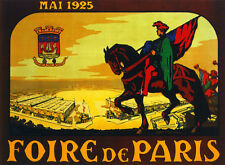 Foire de Paris scenery Travel Decoration Poster. Fine Graphic Art Design. 3134