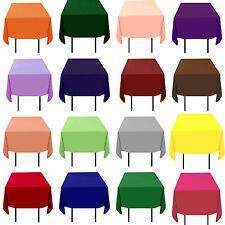 """15 Pack 90""""x90"""" Square Tablecloths Overlays 100% Fine Polyester Wedding Catering"""