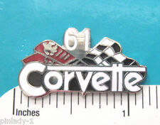 1953 - 1979 CORVETTE with flags - hat pin tie tac , lapel pin  hatpin GIFT BOXED