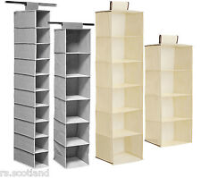 6 Section Hanging Garments or Shoe Rack 10 Sections Hanging Shoe Organiser