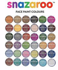 18ml Classic SNAZAROO FACE PAINTS 38 Shades Fancy Dress Party Theatre Makeup