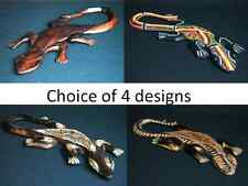 30cm Hand Carved / Decorated Lizard / Geko - Choice of 4 Styles - Fair Trade