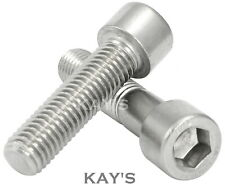M6 (6mmØ) A2 Stainless Steel Cap Screws, Hexagon Socket Head Allen Key Bolts