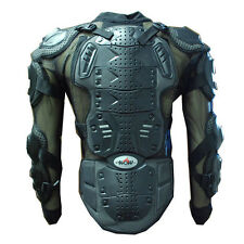MOTORCYCLE MOTOCROSS BIKE GUARD PROTECTOR ADULT BODY ARMOR BLACK S M L XL XXL