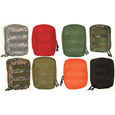 """MOLLE LARGE TACTICAL RESPONDER ZIPPER POUCH -  Rugged Polyester, 8 x 6 x 3"""""""