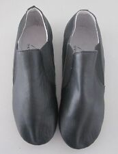 New Slip On Black Jazz Shoes With Split Sole By Moda Dance Couture