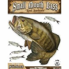 """Sticker Smallmouth Bass 11"""" x 14"""" Decal Salty Bones for indoor outdoor use"""