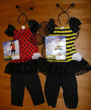 Girls LADYBUG or BUMBLE BEE Costume Size S M L XL headband Dress up Leggings