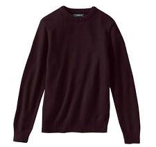 New Croft & Barrow Men's Crewneck Pullover Sweater Burgundy Size L MSRP $45