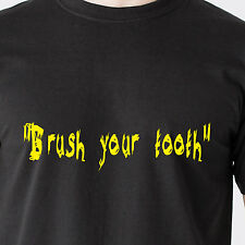 """""""Brush your tooth"""" red neck radio hick duck south vintage retro Funny T-Shirt"""