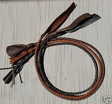 ONE LEATHER BRAIDED FALL FOR A BULLWHIP (popper cracker bull whip)