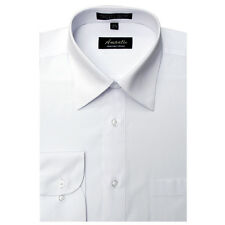 New Amanti Mens White Solid  Dress Shirt