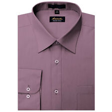 New Amanti Mens Solid  Voilet  purple  Formal Dress Shirt