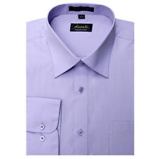 New Amanti Mens Lavender Solid Wedding Formal Dress Shirt
