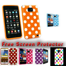STYLISH POLKA DOTS CASE COVER FOR SAMSUNG GALAXY S2 i9100 FREE SCREEN PROTECTOR