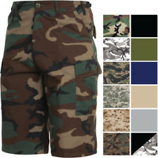Camouflage Military Extra Long BDU Shorts Fatigue Cargo Shorts