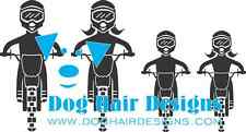 Dirt Bike People Stick Figure Family Car Window Vinyl Decal