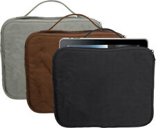 Padded Canvas Tablet & Netbook Travel Carrying Pouch Sleeve