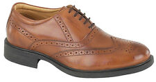 Wing Cap Brogue Oxford Leather shoe