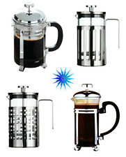 Cafetiere Glass & Chrome Coffee Maker's- Different Styles & Capacity