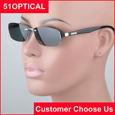 Men's gray polarized clip-on sunshades optical frame designer temples (S9008)