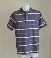 Champion Mens Polo T Shirt - GREY STRIPE- Sizes S & M - NEW