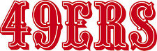 SAN FRANSICO 49ERS VINYL STICKER RED LOGO FOR WINDOW OR WALL BRAND NEW