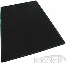 Black Indoor Outdoor Area Rug Carpet Non-Skid Marine Backing Many sides