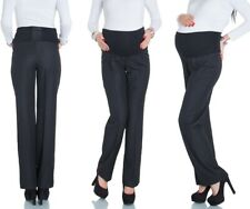 Happy Mama Pregnancy Maternity Women's Tailored Office Overbump Trousers 246P