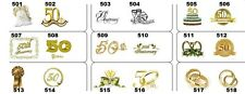 24 Personalized 50th Wedding Anniversary Favor Tags White or Ivory Buy 2 Get 1