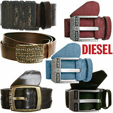 COLLECTION OF 100% GENUINE DIESEL LEATHER BELTS (BRAND NEW WITH TAG)