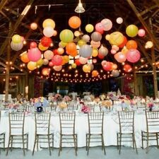 10X Round Paper Lanterns Wedding Party with Led Light Decoration USA