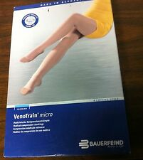 Bauerfeind VenoTrain Micro Knee-High Open Closed Toe Compression Stockings