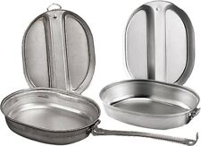 Silver Military Heavy Duty 2 Piece Cooking Mess Kit