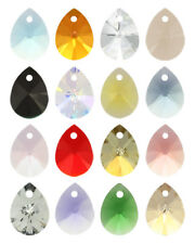 4 X Genuine SWAROVSKI 6128 XILION Mini Pear Pendant 8mm * Many Colors