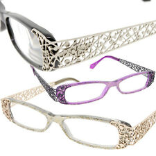 Women's Reading Glasses Retro Rectangle Art Deco Frames