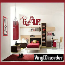 Lets Golf Sports Vinyl Wall Decal Sticker Mural Quotes Words GO003LetsV