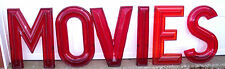 "Huge 24""  Vintage 1950-60's Era Drive In  Movie Theater Marquee Sign Letters 3D"