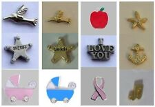 You Choose~ Anchor - Starfish - Bird - Cake Floating Charm for Glass Lockets Owl