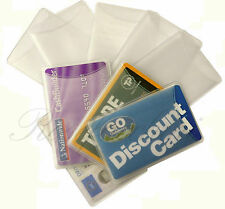 CREDIT  BUSINESS TRAVELL CARD SLEEVE OPAQUE HOLDER TICKET CLUB BANK BUS LOT