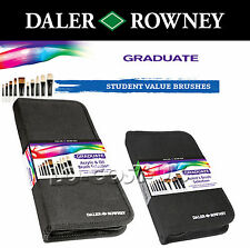 DALER ROWNEY GRADUATE ARTISTS ART BRUSHES IDEAL FOR ACRYLIC & OIL PAINTS & CRAFT